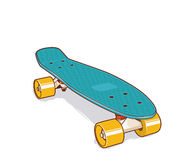 Plastic skateboard. Mini or short cruiser. Plastic skateboard. Retro 70s Style Skateboard Deck Mini Cruiser Royalty Free Stock Photos