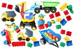 Plastic slechts speelgoedachtergrond Royalty-vrije Stock Foto's
