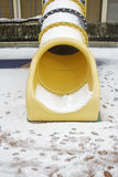 Slide with snow Stock Image