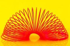 Plastic slinky Royalty Free Stock Image