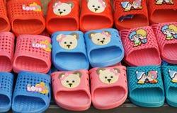 Plastic slippers Stock Photos
