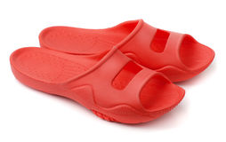Plastic slippers Stock Image
