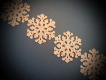 Plastic snowflakes pattern Royalty Free Stock Photo