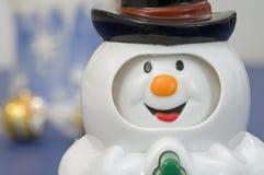 plastic snowmantoy Fotografering för Bildbyråer
