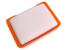 Plastic soap dish  №8. Plastic soap dish on the mirror surface №8 Stock Photography