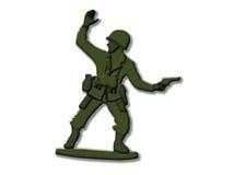 plastic soldat Arkivbild