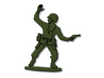 Plastic soldier Stock Photography