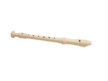 Plastic soprano flute on a white background Stock Image