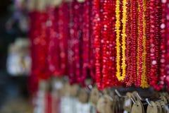 Plastic Souvenir Necklaces, Seychelles Royalty Free Stock Photo