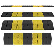 Plastic speed bumps. Isolated render on a white background Stock Photography