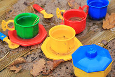 Plastic speelgoed stock afbeelding