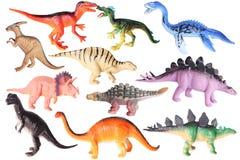 Plastic speelgoed - dinosaurussen royalty-vrije stock afbeeldingen