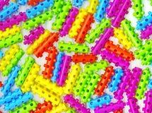 Plastic spelden Stock Fotografie