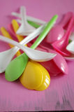 Plastic spoon Royalty Free Stock Photos