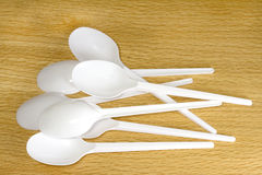 Plastic spoons Royalty Free Stock Image