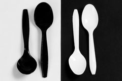 Plastic Spoons Royalty Free Stock Photo