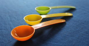 Plastic spoons Stock Image