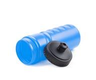 Plastic sport water bottle Stock Photos