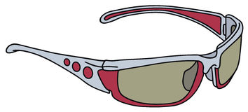 Plastic sports glasses Royalty Free Stock Images