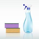 Plastic spray bottle Royalty Free Stock Image