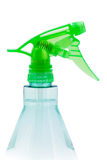 Plastic spray bottle on white Royalty Free Stock Image