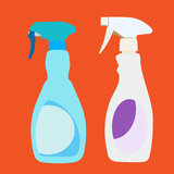 Plastic Spray Bottles Royalty Free Stock Images