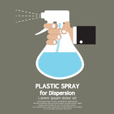 Plastic Spray For Dispersion. Hand Holding Plastic Spray For Dispersion Illustration Royalty Free Stock Photography