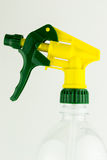 Plastic spray for dispersion  at the white background Stock Photo