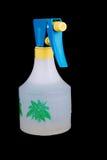 Plastic sprayer bottle. Household plastic sprayer bottle on black Royalty Free Stock Photography