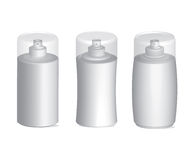 Plastic Sprayer Bottles Container Vector Set. Realistic detailed  blank sprayer  plastic bottles vector illustration template for cosmetic industry , perfume Stock Photo