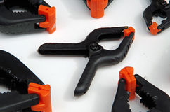 Plastic spring clamps Stock Photography