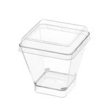 Plastic square cup Stock Image