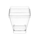 Plastic square cup Royalty Free Stock Images