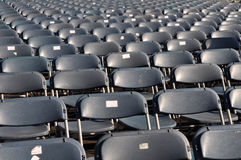 Plastic Stadium Chairs Stock Image