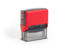 Plastic stamp isolated Royalty Free Stock Image