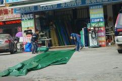 Plastic sticky cloth sales outlets Stock Photo