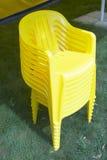 Plastic stoel stock fotografie