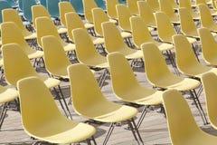 Plastic stoelen Royalty-vrije Stock Foto