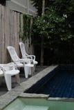 Plastic stoelen Royalty-vrije Stock Fotografie