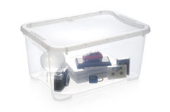 Plastic storage box Stock Photography