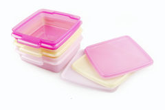 Plastic storage boxes  Stock Photos