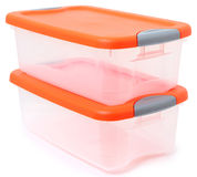 Plastic Storage Container Bin Royalty Free Stock Photography