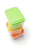 Plastic storage containers Stock Photo
