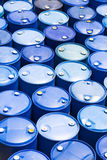 Plastic Storage Drums Stock Images