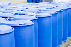 Plastic Storage Drums Royalty Free Stock Image