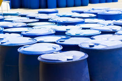 Plastic Storage Drums Royalty Free Stock Photo