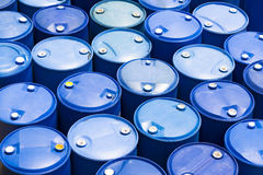 Plastic Storage Drums Royalty Free Stock Images