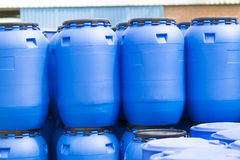 Plastic Storage Drums Stock Photography