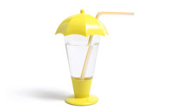 Plastic Straw Cup Stock Photo