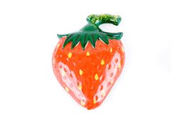Plastic strawberry toy Royalty Free Stock Image